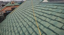 カバー工法前の屋根洗浄